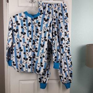 Vintage Intimates & Sleepwear - Vintage 90s Mickey Mouse 2 pc Pajama Set Size M